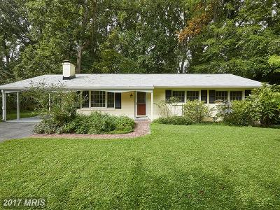 Silver Spring Single Family Home For Sale: 13822 Leibig Road