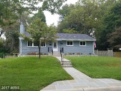 Bethesda Single Family Home For Sale: 9249 Parkhill Drive
