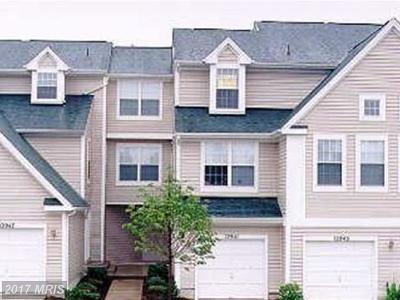 Germantown Townhouse For Sale: 12941 Bridger Drive #1611
