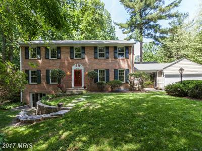 Bethesda Single Family Home For Sale: 8012 Lilly Stone Drive