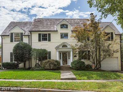 Chevy Chase MD Single Family Home For Sale: $1,295,000