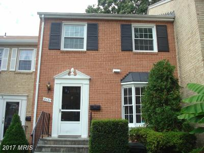 Silver Spring Townhouse For Sale: 2131 Bucknell Terrace #55