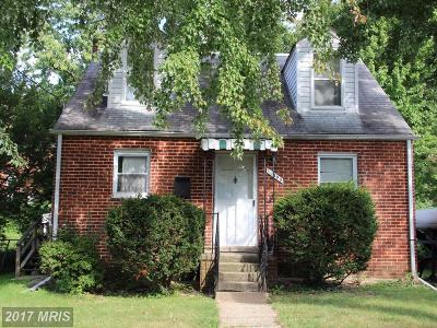Silver Spring Single Family Home For Sale: 10405 Grandin Road
