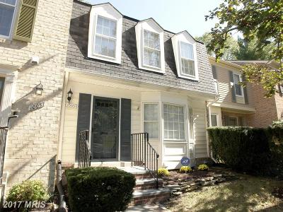 Montgomery Village Townhouse For Sale: 10055 Maple Leaf Drive
