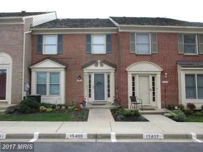 Rockville Townhouse For Sale: 15402 Manor House Terrace