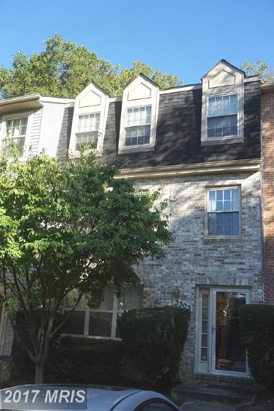 Silver Spring, Wheaton Townhouse For Sale: 3303 Sea Port Way