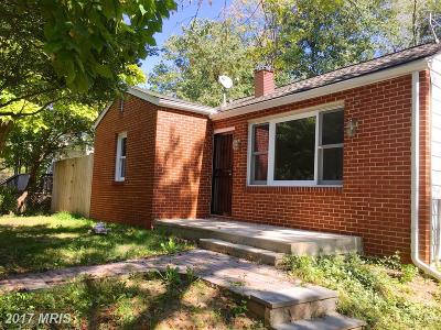 Rockville MD Single Family Home For Sale: $299,900