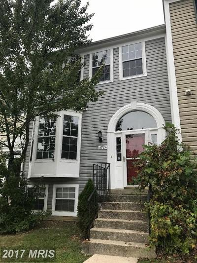 Burtonsville Townhouse For Sale: 14724 McKnew Road