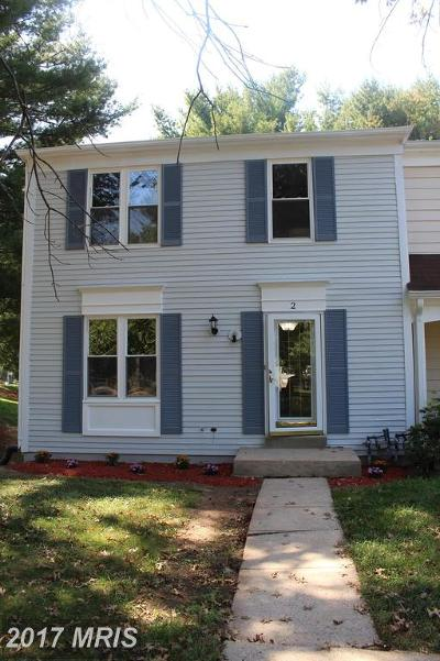 Olney Townhouse For Sale: 2 Hines Court