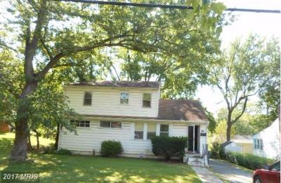 Rockville MD Single Family Home For Sale: $324,500