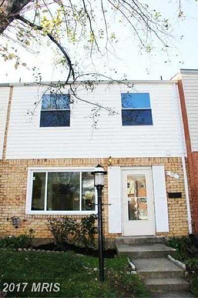Gaithersburg Townhouse For Sale: 50 Timber Rock Road