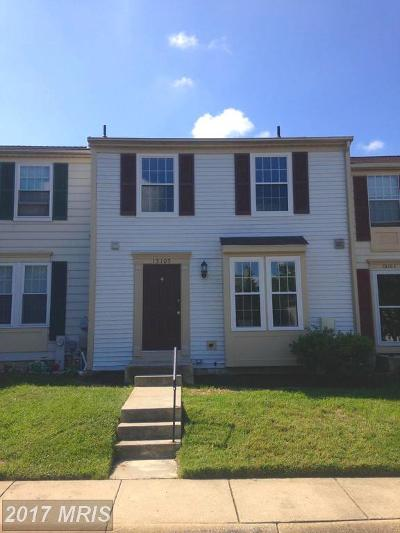 Burtonsville Townhouse For Sale: 15105 Red Cedar Drive