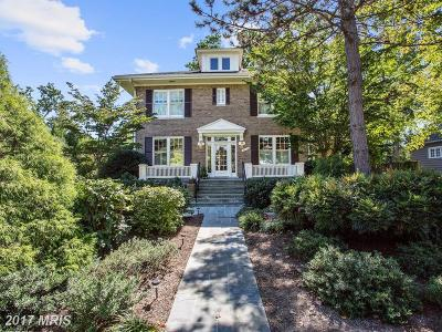 Chevy Chase Single Family Home For Sale: 3718 Bradley Lane