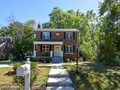 Takoma Park Single Family Home For Sale: 811 Forston Street