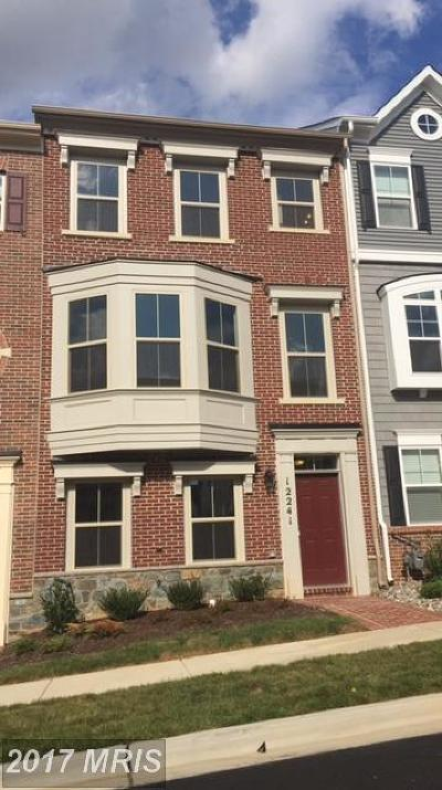 Clarksburg Townhouse For Sale: 12241 Bluffwood Terrace