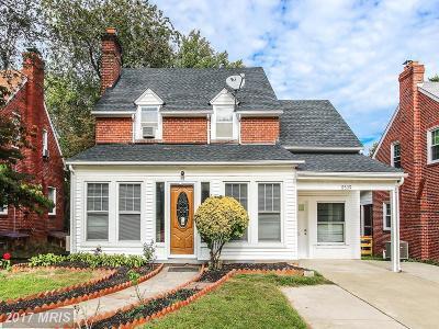 Silver Spring Single Family Home For Sale: 8509 Cedar Street