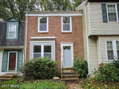 Silver Spring Townhouse For Sale: 14333 Long Green Drive