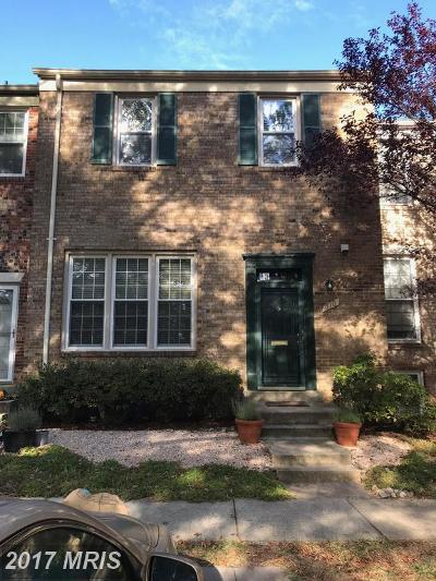 Rockville Townhouse For Sale: 610 Northcliffe Drive