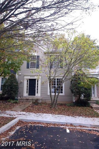 Olney Townhouse For Sale: 2535 Little Vista Terrace