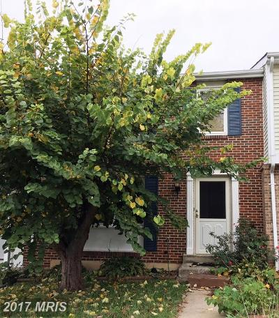 Gaithersburg Townhouse For Sale: 9123 Turtle Dove Lane