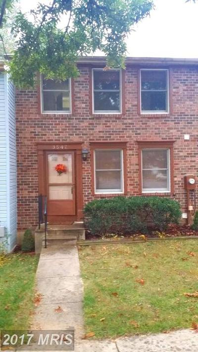 Burtonsville Townhouse For Sale: 3547 Hepburn Court