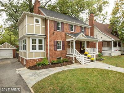 Takoma Park MD Single Family Home For Sale: $925,000