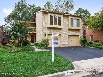Potomac Townhouse For Sale: 7810 Whiterim Terrace