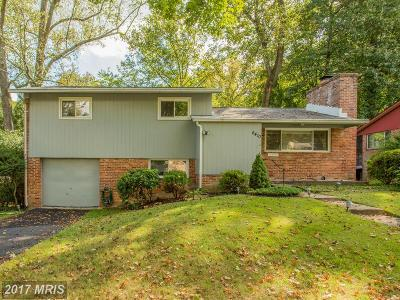 Bethesda Single Family Home For Sale: 6410 Marjory Lane