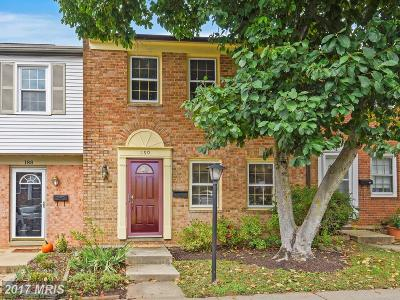 Gaithersburg Townhouse For Sale: 190 Gold Kettle Drive