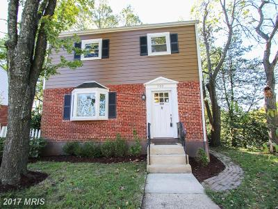Takoma Park MD Single Family Home For Sale: $400,000