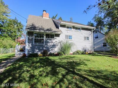 Rockville Single Family Home For Sale: 5817 Vandegrift Avenue