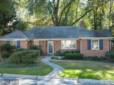 Chevy Chase Single Family Home For Sale: 3502 Husted Driveway
