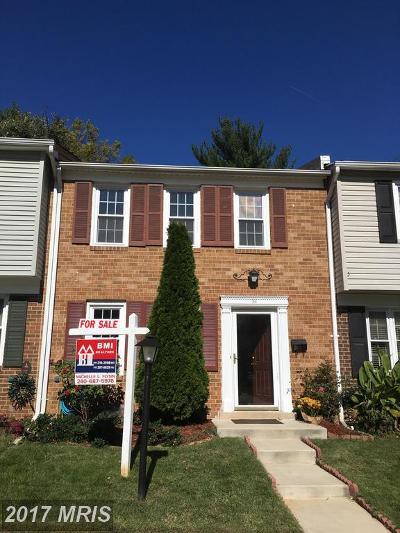 Gaithersburg Townhouse For Sale: 24 County Court #17-3