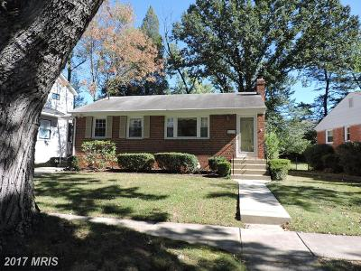 Bethesda Single Family Home For Sale: 9913 Mayfield Drive