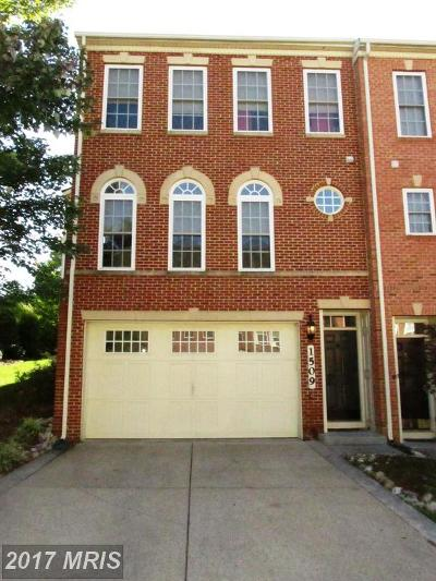 Silver Spring Townhouse For Sale: 1509 Regent Manor Court