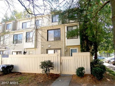 Montgomery Village MD Townhouse For Sale: $215,000
