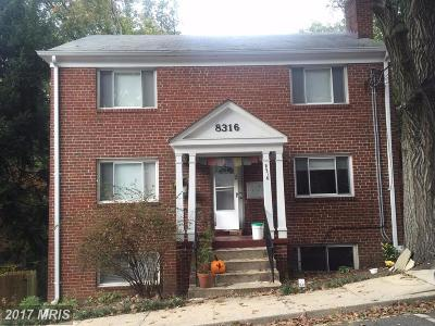 Takoma Park MD Multi Family Home For Sale: $490,000