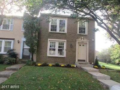 Rockville Townhouse For Sale: 7606 Nutwood Court
