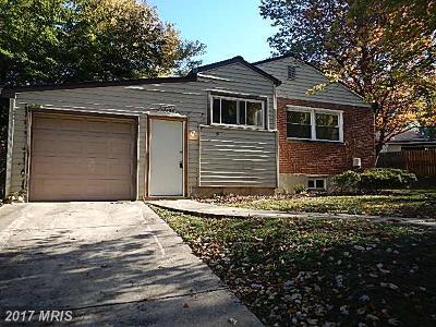 Silver Spring Single Family Home For Sale: 12205 Bond Street