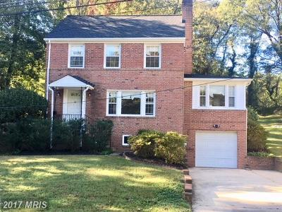 Takoma Park Single Family Home For Sale: 1206 Prospect Street