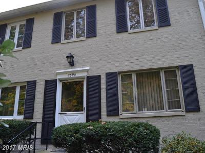 Silver Spring Townhouse For Sale: 9890 Hollow Glen Place #2540
