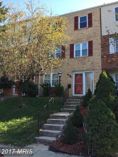 Gaithersburg Townhouse For Sale: 95 Orchard Drive