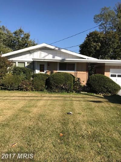 Silver Spring Single Family Home For Sale: 11813 New Hampshire Avenue