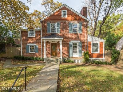 Chevy Chase Single Family Home For Sale: 8512 Lynwood Place