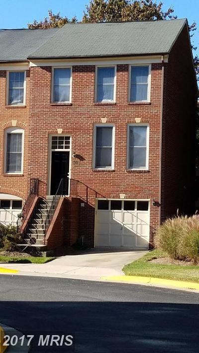 Rockville Townhouse For Sale: 1301 Templeton Place