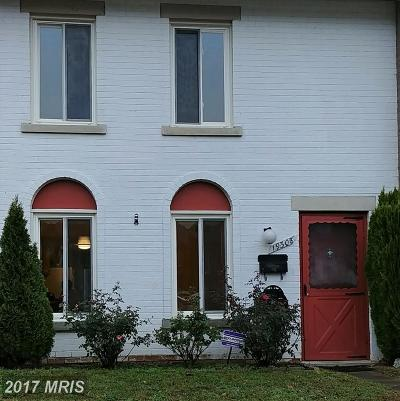 Gaithersburg MD Townhouse For Sale: $248,000