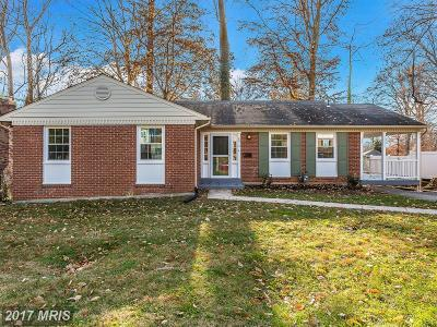 Rockville Single Family Home For Sale: 4812 Bel Pre Road