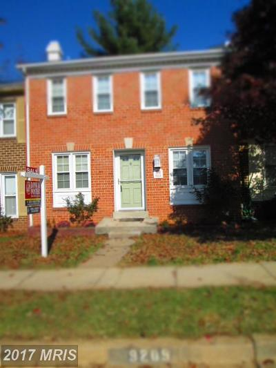 Gaithersburg Townhouse For Sale: 9211 Hummingbird Terrace
