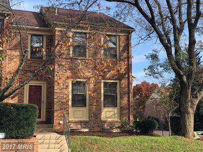 Rockville Townhouse For Sale: 5901 Tudor Lane