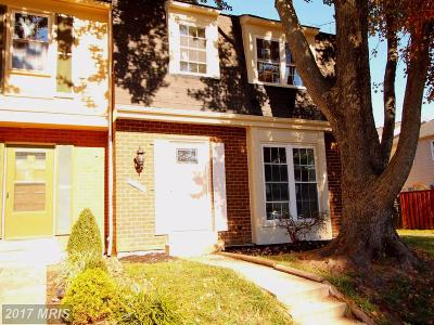 Gaithersburg Townhouse For Sale: 19944 Spur Hill Drive